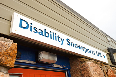 A disabled skiing charity at Cairngorm, Scotland, United Kingdom, Europe