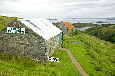 The village store at Drumbeg in Assynt, Sutherland, Highlands, Scotland United Kingdom, Europe