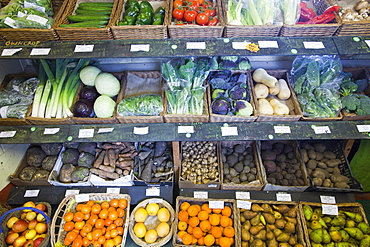 Organic shop at Growing with Grace, an organic fruit and vegetable growing co-operative based in Clapham in the Yorkshire Dales, Yorkshire, England, United Kingdom, Europe