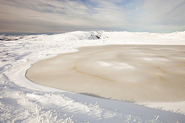 The summit of Red Screes in the Lake District, Cumbria, England, United Kingdom, Europe