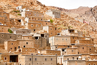 A Berber village in a valley in the Anti Atlas mountains of Morocco, North Africa, Africa