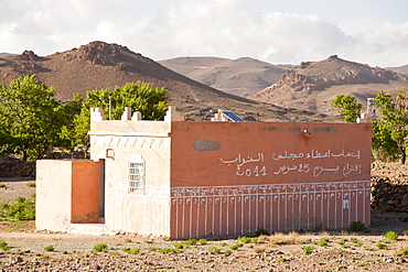 A Berber house in the village of Tinzarine near Jebel Sirwa in the Anti Atlas mountains of Morocco, North Africa, Africa