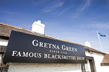 The world famous Gretna Green Blacksmiths shop, Dumfires and Galloway, Scotland, United Kingdom, Europe