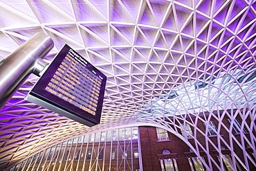 The new Kings Cross railway station, London, England, United Kingdom, Europe