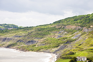 A massive landslip at Black Ven between Lyme Regis and Charmouth, Jurassic Coast, UNESCO World Heritage Site, Dorset, England, United Kingdom, Europe