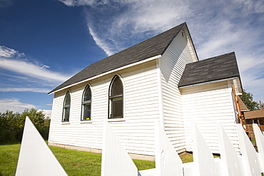 An old chapel preserved in the museum in Fort McMurray, Alberta, Canada, North America