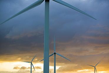 A windfarm in Workington, Cumbria, England, United Kingdom, Europe