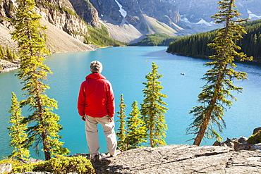 Moraine Lake, Banff National Park, UNESCO World Heritage Site, Alberta, Canadian Rockies, Canada, North America