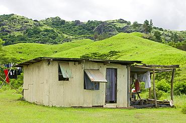 A tin shack house on Fiji, Pacific