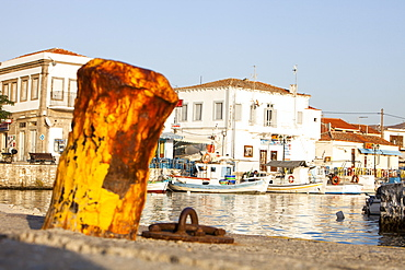 Myrina harbour on Lemnos, Greek Islands, Greece, Europe