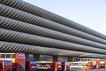 The iconic 1960s concrete Preston Bus Station, Preston, Lancashire, England, United Kingdom, Europe
