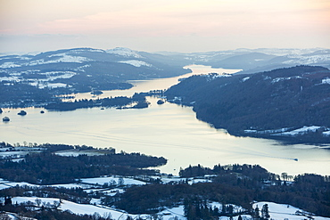 Lake Windermere from the summit of Wansfell, Lake District National Park, Cumbria, England, United Kingdom, Europe