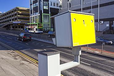 A speed camera in Preston, Lancashire, England, United Kingdom, Europe