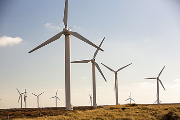 Ovenden Moor wind farm owned by Eon above Keighley, West Yorkshire, Yorkshire, England, United Kingdom, Europe