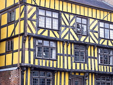 A house built in the 17th century, one of many ancient buildings in Ludlow, which is noted for the preservation of its ancient buildings, Ludlow, Shropshire, England, United Kingdom, Europe