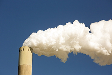 Emissions from a coal fired power station in Amsterdam, Netherlands, Europe