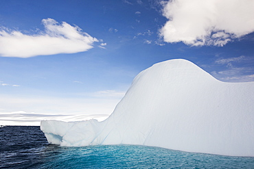 An iceberg melting in Suspiros Bay off Joinville Island just off the Antarctic Peninsular. The peninsular is one of the fastest warming places on the planet.