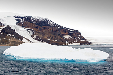 Brown Bluff, a Tuya, or flat topped volcano that erupted under the ice on the Antarctic Peninsular. This area is one of the most rapidly warming areas of the planet.