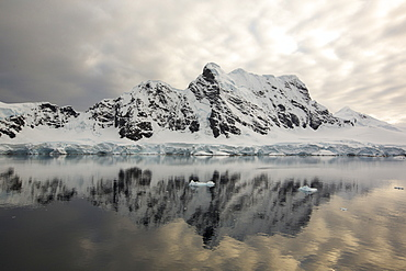 Stunning coastal scenery in Paradise Bay off Graham Land on the Antarctic Peninsular. the Peninsular is one of the most rapidly warming places on the planet.