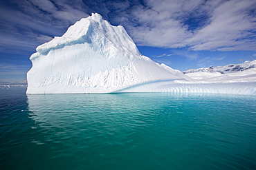 An iceberg in the Gerlache Strait separating the Palmer Archipelago from the Antarctic Peninsular off Anvers Island. The Antartic Peninsular is one of the fastest warming areas of the planet.