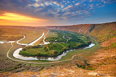 Old Orhei. Nature, Moldova, landscape, summer, Green,  Stones, hill, hills, Grass, trees, tree, forest, water, River, Old Orhei