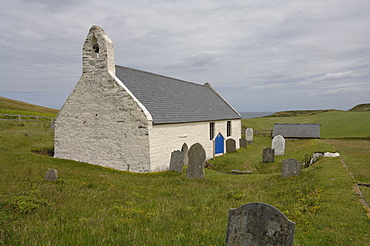 Eglwys y Grog Church of the Holy Cross, Mwnt, Ceredigion, Wales, UK, Europe