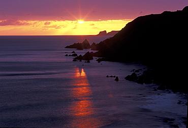 Sunset, West Dale, Pembrokeshire, Wales, UK, Europe     (rr)