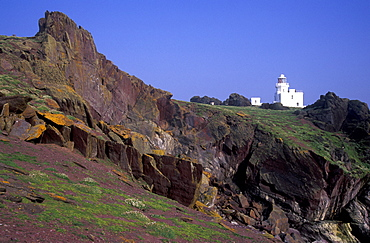 Lighthouse, Skokholm Island, Pembrokeshire, West Wales, UK     (rr)