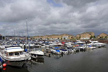 Boats in Penarth Marina, Cardiff Bay, Cardiff, Wales, UK, Europe