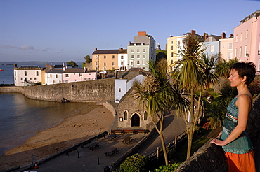Evening, Tenby Harbour, Pembrokeshire, Wales, UK, Europe