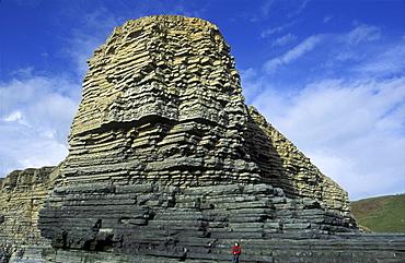 Sedimentary cliffs, Nash Point, Heritage Coast, Vale of Glamorgan, Wales, UK