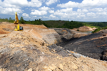 Lignite surface mine. Balikpapan Bay, East Kalimantan, Borneo, Indonesia, Southeast Asia, Asia