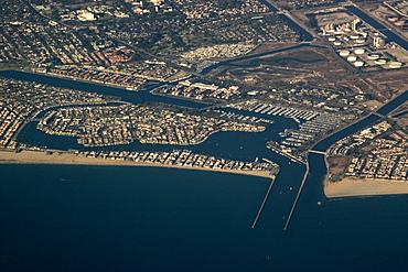 Aerial view of Naples, California, United States of America, North America
