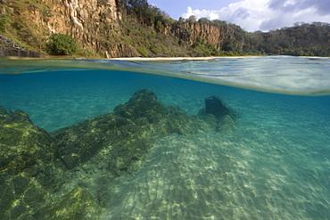 Underwater view of Sancho Bay, Fernando de Noronha, Brazil, South America