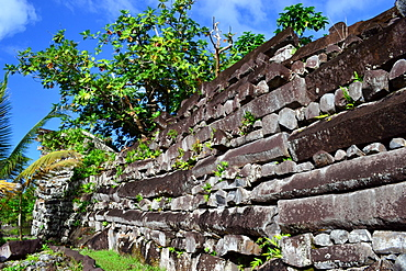 Ruins at the archaeological city of Nan Madol, known as the Venice of the Pacific, Madolenihmw Province, Pohnpei, Federated States of Micronesia, Caroline Islands, Micronesia, Pacific Ocean, Pacific