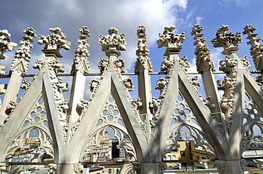 Ornamental detail, Milan Cathedral (Duomo di Milano), Milan, Lombardy, Italy, Europe