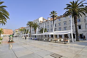 Modern facade of Split's waterfront, Croatia, Europe