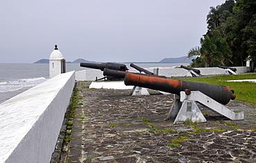 Cannons at Fortress (Fortaleza de Nossa Senhora dos Prazeres), Mel Island, Paranagua, Parana, Brazil, South America