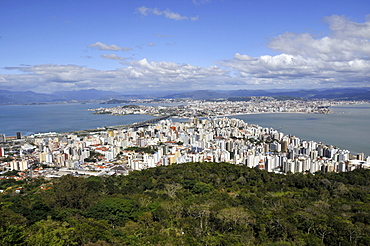 Connection between downtown Florianopolis Island and mainland, Santa Catarina, Brazil, South America