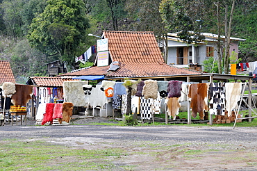 Road side shop selling leather goods, near Soledade on road BR-386, Rio Grande Sul, Brazil, South America