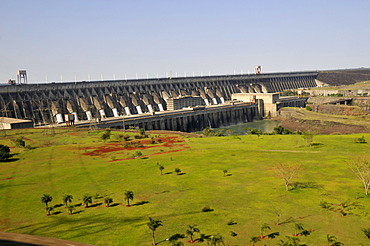 Itaipu hydroelectric dam, Parana river, border between Brazil and Paraguay, South America