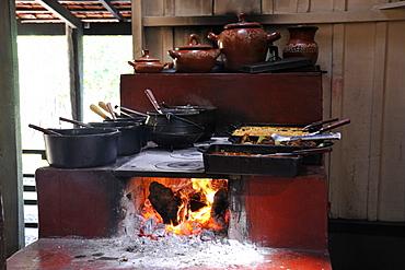 Fire oven at Estancia Mimosa, Bonito, Mato Grosso do Sul, Brazil, South America