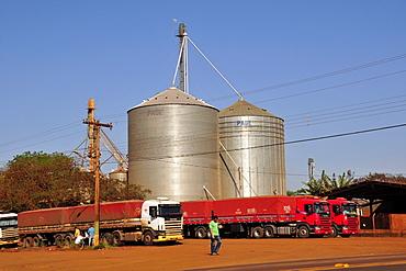 Grain silo in Maracaju, Mato Grosso do Sul, Brazil, South America