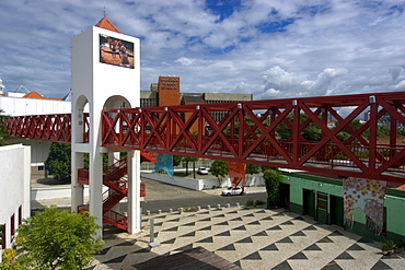 Pedestrian bridge at Dragao do Mar Cultural Center, Fortaleza, Ceara, Brazil, South America