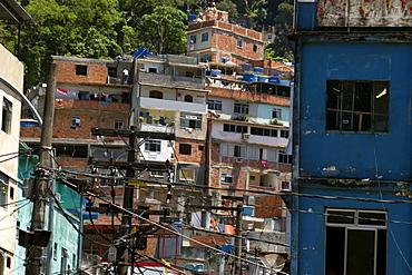 Entrance to Favela da Rocinha, greatest slum area in the world, Rio de Janeiro, Brazil, South America
