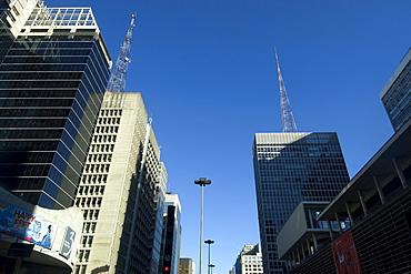 Skyscrapers at Avenida Paulista, Sao Paulo, Brazil, South America