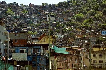 Favela da Rocinha, greatest slum area in the world, Rio de Janeiro, Brazil, South America