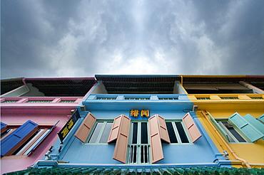 Clarke Quay, harbour, shop fronts..  China town, Singapore city centre, Singapore, Asia