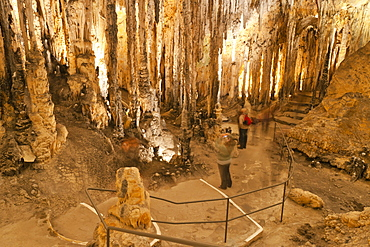 Inside the Caves d'Arta, Llevant, Mallorca, Balearic Islands, Spain, Europe