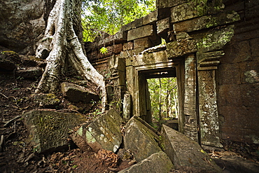 Gateway ruins, Angkor, UNESCO World Heritage Site, Siem Reap, Cambodia, Indochina, Southeast Asia, Asia